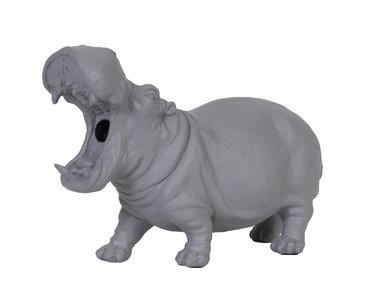 Light & Living Tafellamp Nijlpaard, grijs
