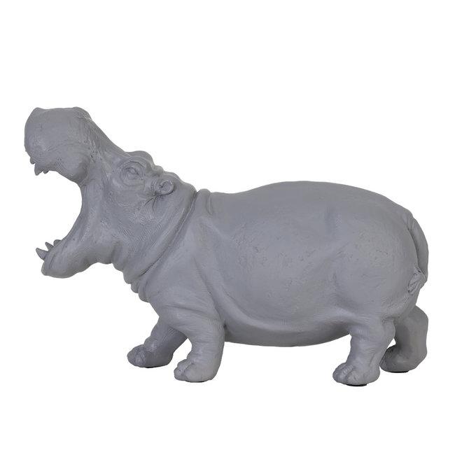 Tafellamp Nijlpaard, grijs