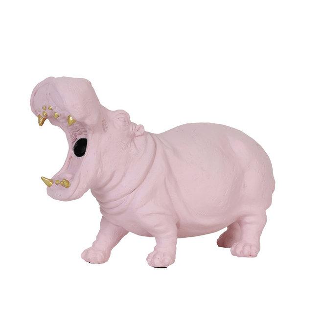 Tafellamp Nijlpaard, roze