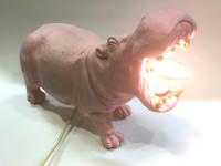 Light & Living Tafellamp Nijlpaard, roze