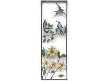 Sampaguita Wall Art Swallows above Flowers 90x30