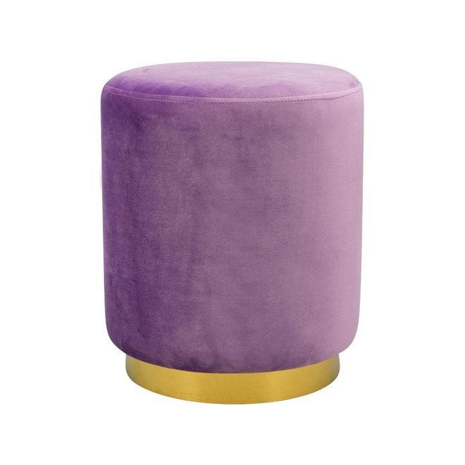 Stool Divan Violet Brass