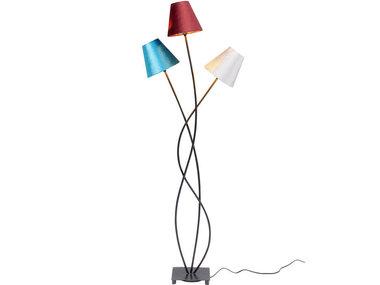 Kare Floor Lamp Flexible Velvet Schwarz Tre