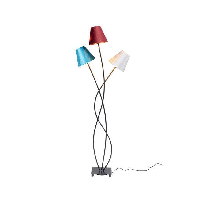 Floor Lamp Flexible Velvet Schwarz Tre