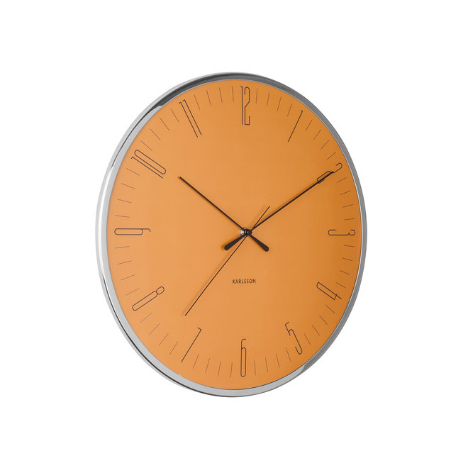 Wall Clock Dragonfly, curry yellow