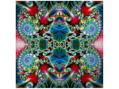 Mondi-Art Alu Art Multicolored Spiral Pattern 100x100