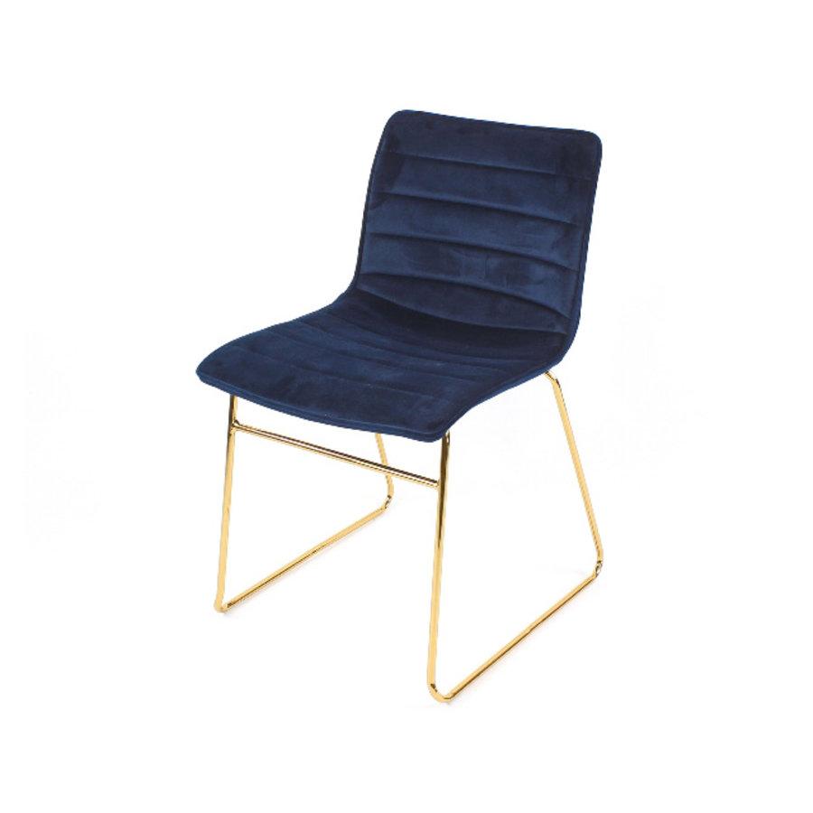 Werner Voß Chair Blue Elegant