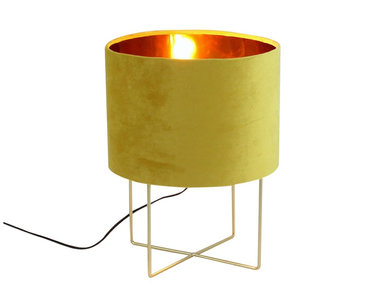 Werner Voß Table Lamp Trixi Velvet Yellow M