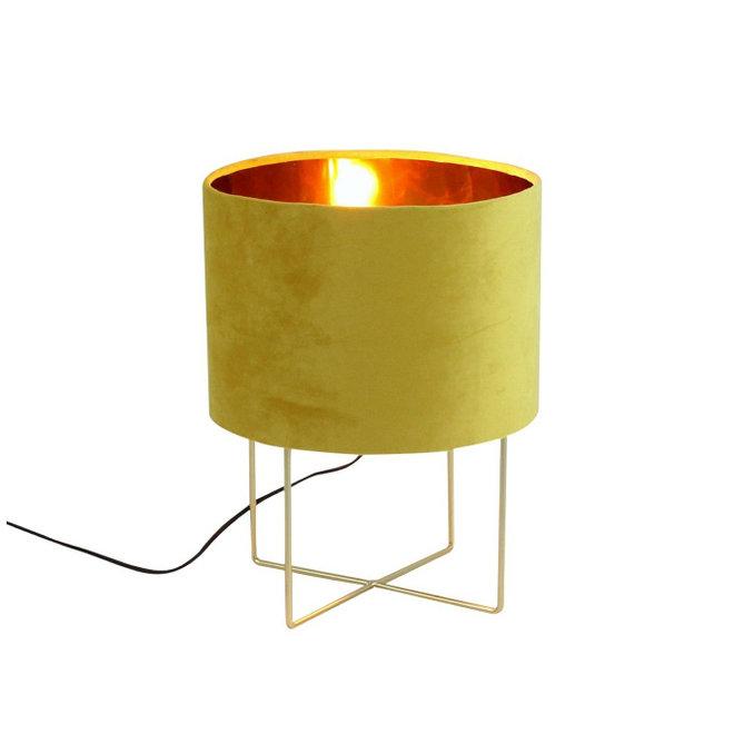Table Lamp Trixi Velvet Yellow M
