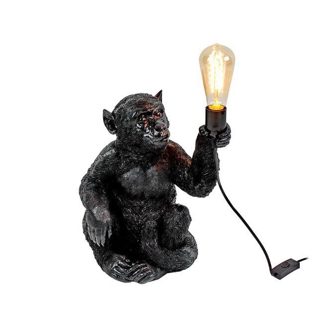 Table Lamp Black Monkey