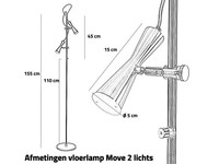 High Light Vloerlamp Move Staal