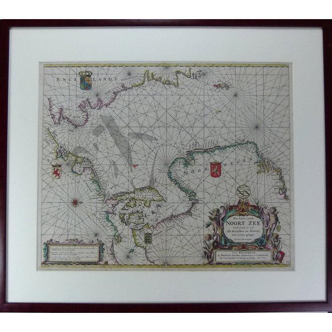 Collectie Gouldmaps - Noordzee; H. Doncker -  Pas Caart van de Noort Zee... - 1664