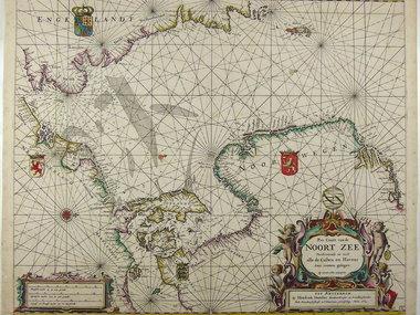 Gouldmaps Noordzee; H. Doncker -  Pas Caart van de Noort Zee... - 1664