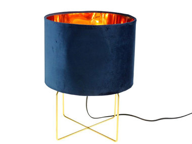 Werner Voß Table Lamp Trixi Velvet Blue M
