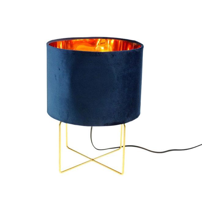 Table Lamp Trixi Velvet Blue M