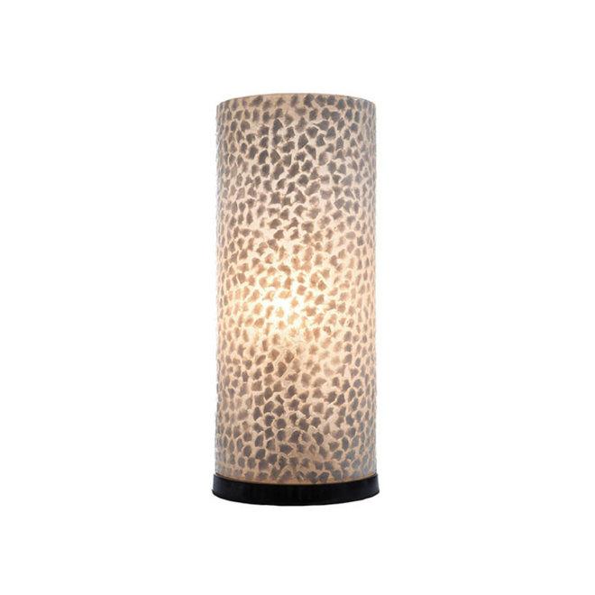 Schelpenlamp - Wangi White - Cilinder - 40 cm