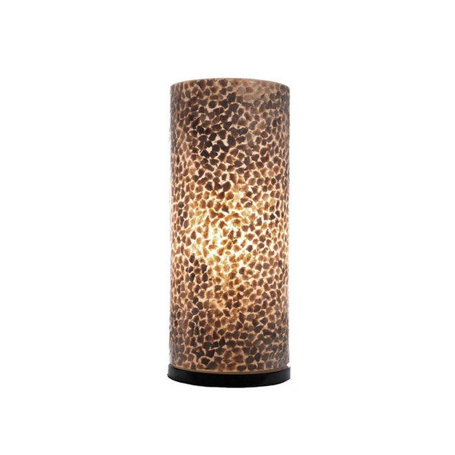 Villaflor schelpenlamp - Wangi Gold - tafellamp - Cilinder - 40 cm