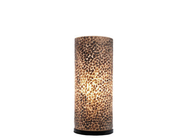 Villaflor Schelpenlamp - Wangi Gold - Cilinder - 30 cm
