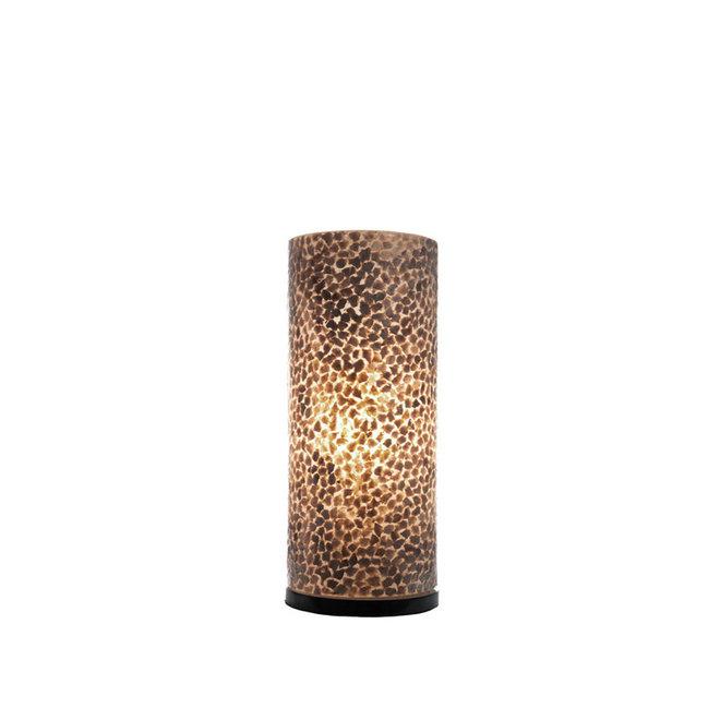 Schelpenlamp - Wangi Gold - Cilinder - 30 cm