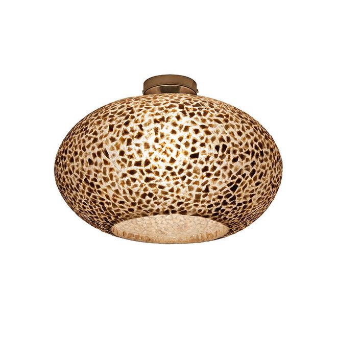 Schelpenlamp - Wangi Gold - Plafonnière UFO