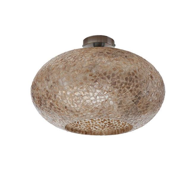 Villaflor schelpenlamp - Wangi Gold - Plafonnière UFO - Ø 40 cm
