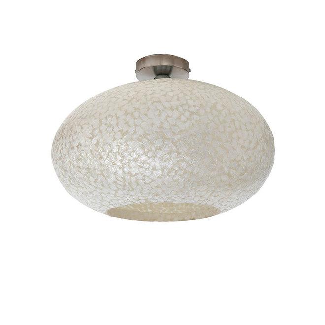 Villaflor schelpenlamp - Wangi White - Plafonnière UFO - Ø 40 cm