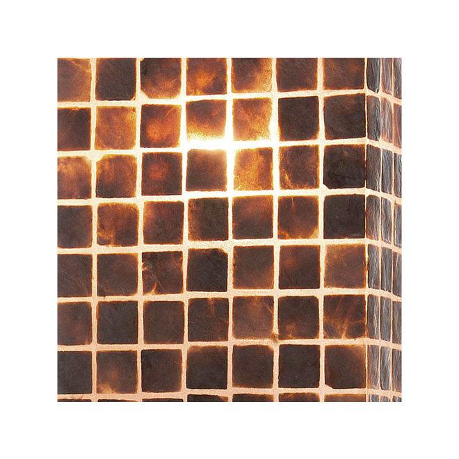 Villaflor schelpenlamp - Moni Gold - tafellamp - Vierkant - 40 cm