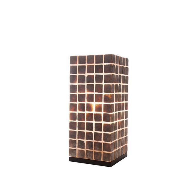 Schelpenlamp - Moni Gold - Vierkant - 40 cm