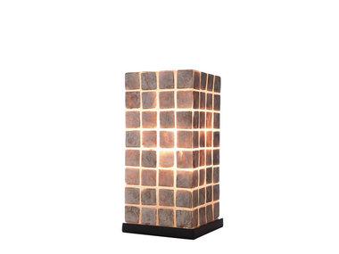 Villaflor Schelpenlamp - Moni Gold - Vierkant - 30 cm