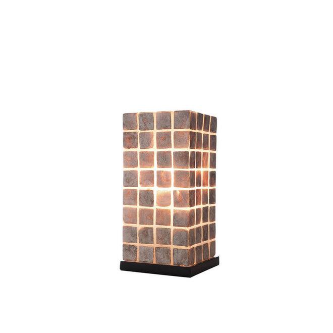 Schelpenlamp - Moni Gold - Vierkant - 30 cm