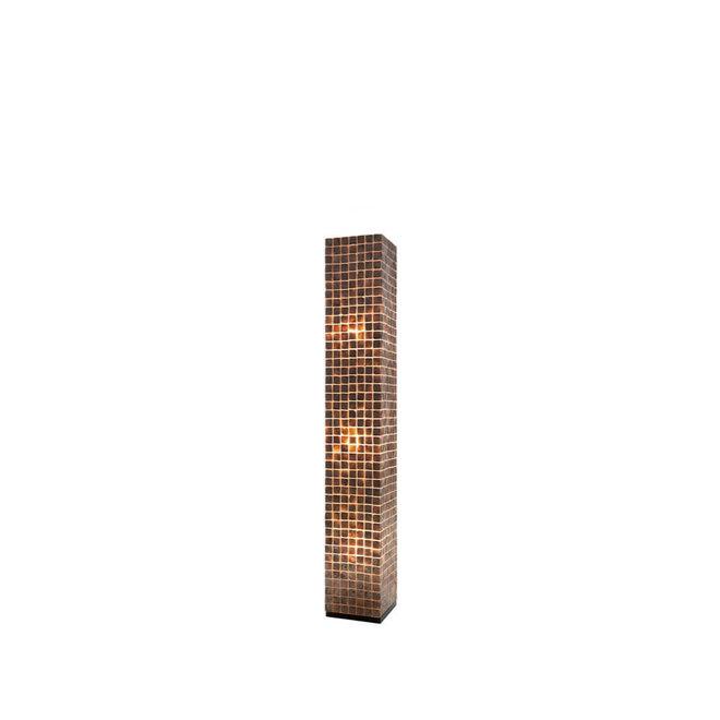 Villaflor schelpenlamp - Moni Gold - vloerlamp - Vierkant - 150 cm