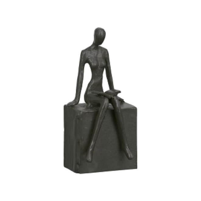 Metal-Sculpture 'Readable', woman