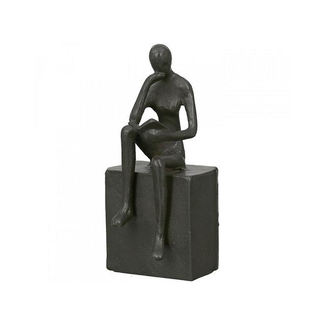 Metal-Sculpture 'Readable', man