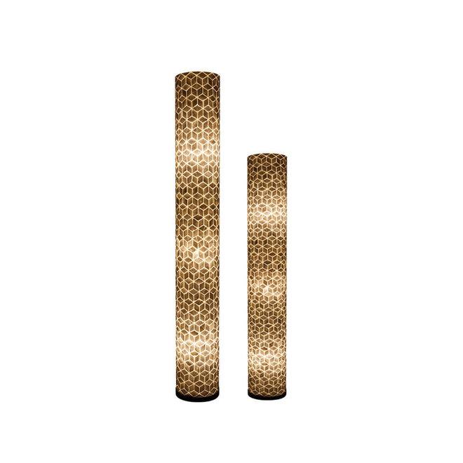 Villaflor schelpenlamp - Cubes - vloerlamp - Cilinder - hoogte 150 cm
