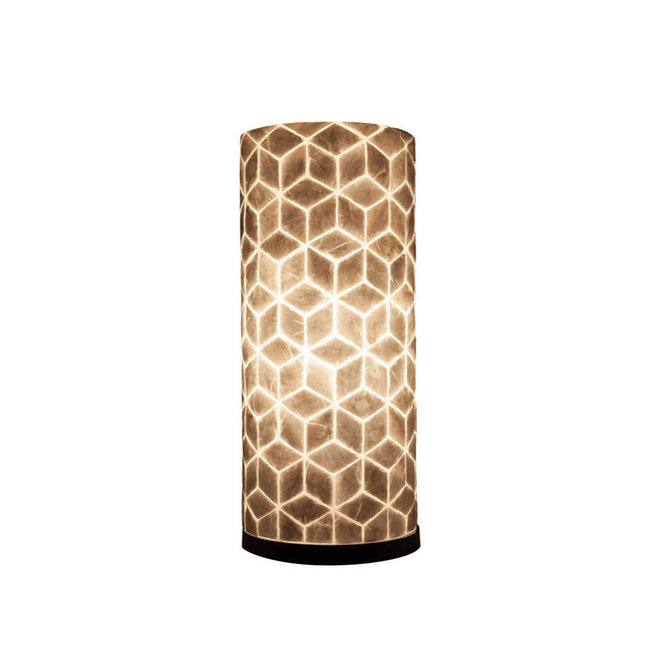 Villaflor schelpenlamp - Cubes - tafellamp - Cilinder - hoogte 40 cm