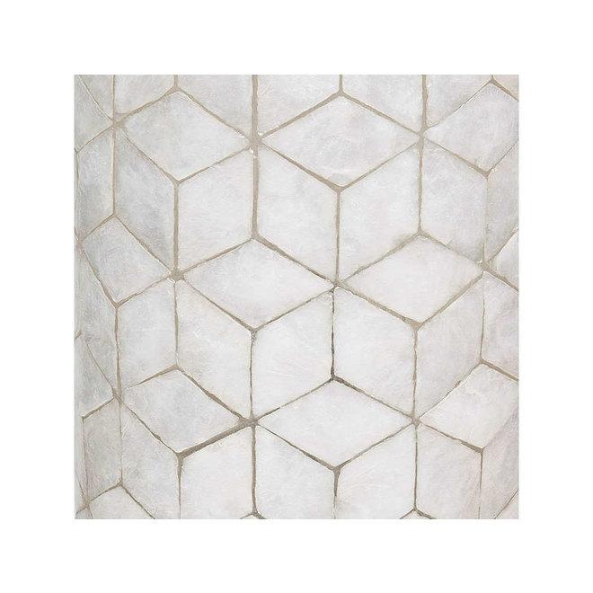 Villaflor schelpenlamp - Cubes - tafellamp - Vierkant - hoogte 30 cm