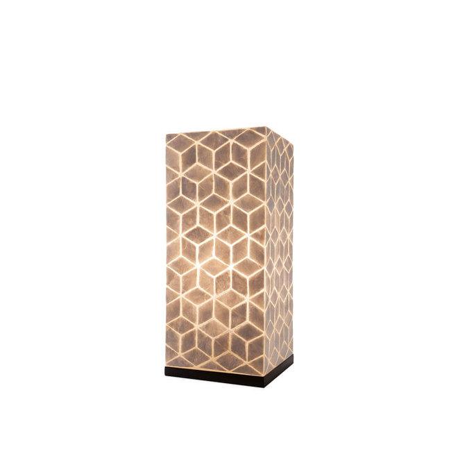 Schelpenlamp - Cubes - Vierkant - 30 cm