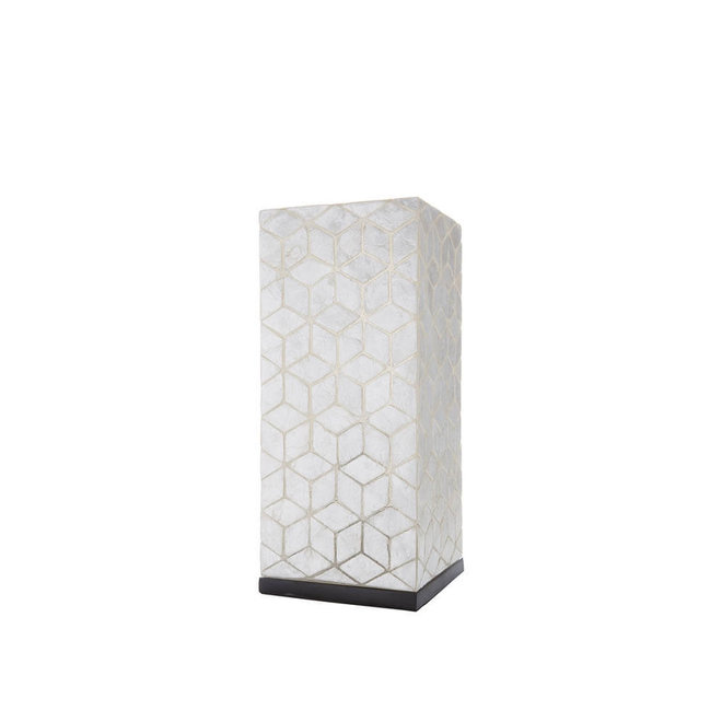 Villaflor schelpenlamp - Cubes - tafellamp - Vierkant - hoogte 40 cm