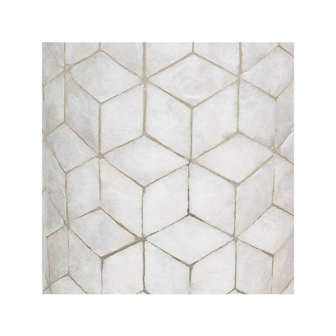 Villaflor schelpenlamp - Cubes - Capri tafellamp met kap - hoogte 50 cm