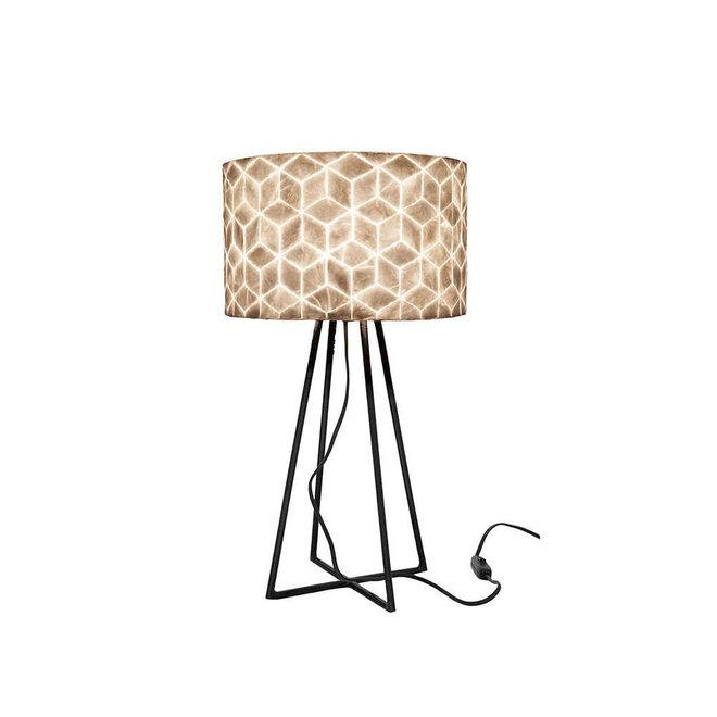 Schelpenlamp - Cubes - Capri tafellamp met kap