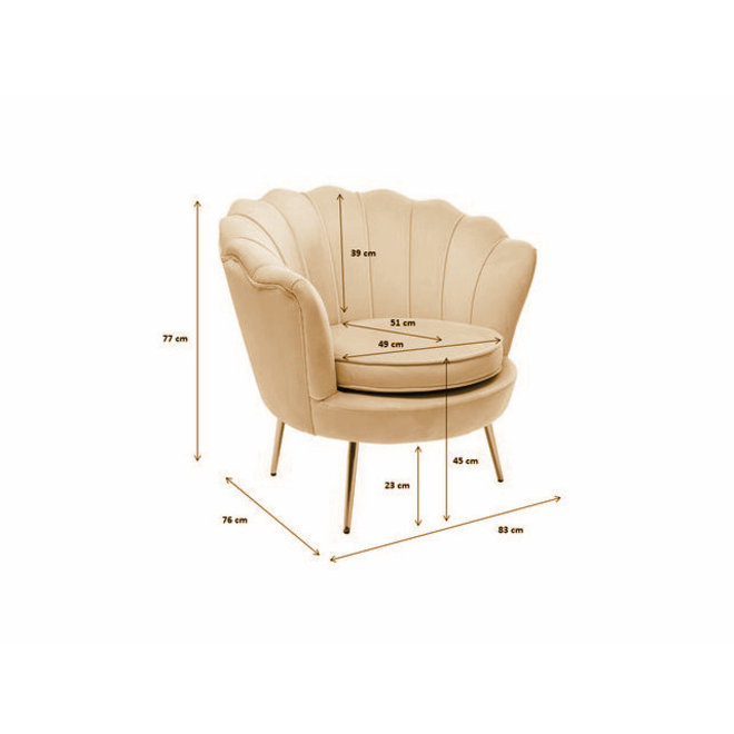 Armchair Water Lily Champagne