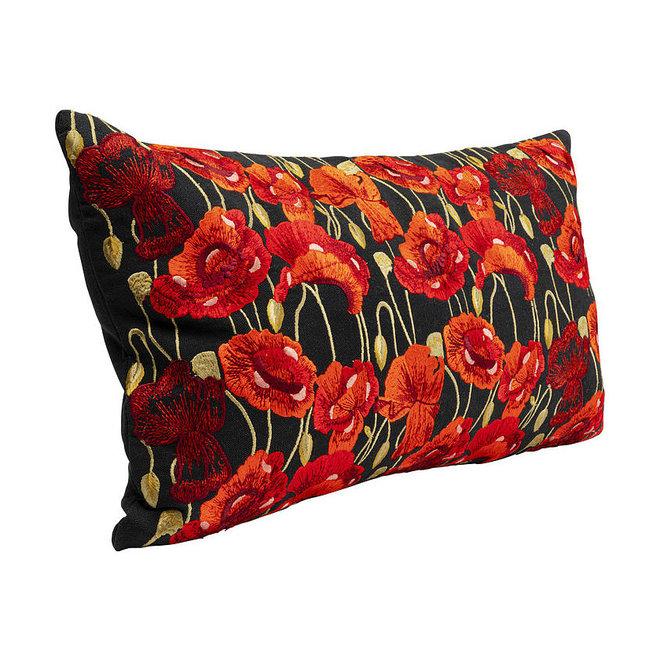 Cushion Poppy Black 30x50