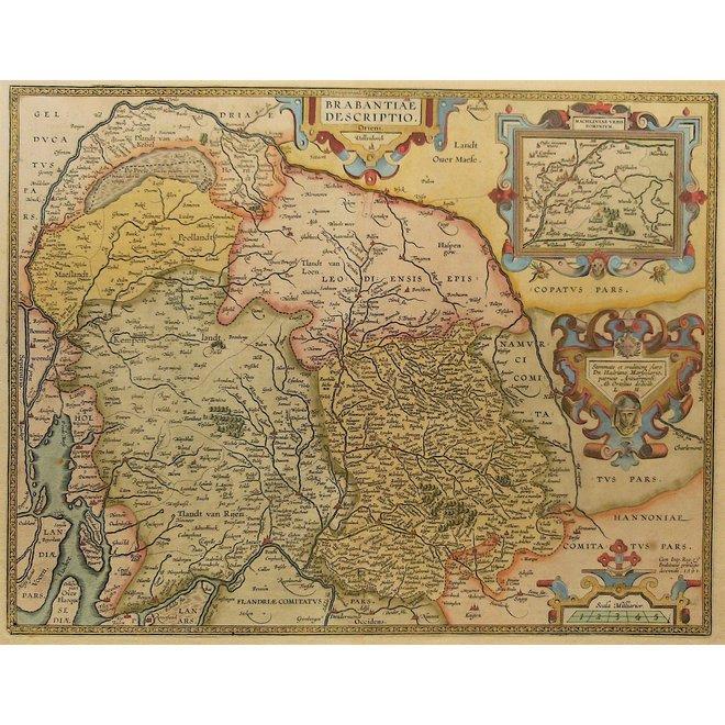 Collectie Gouldmaps - Brabant; A. Ortelius - Brabantiae descriptio. - 1612
