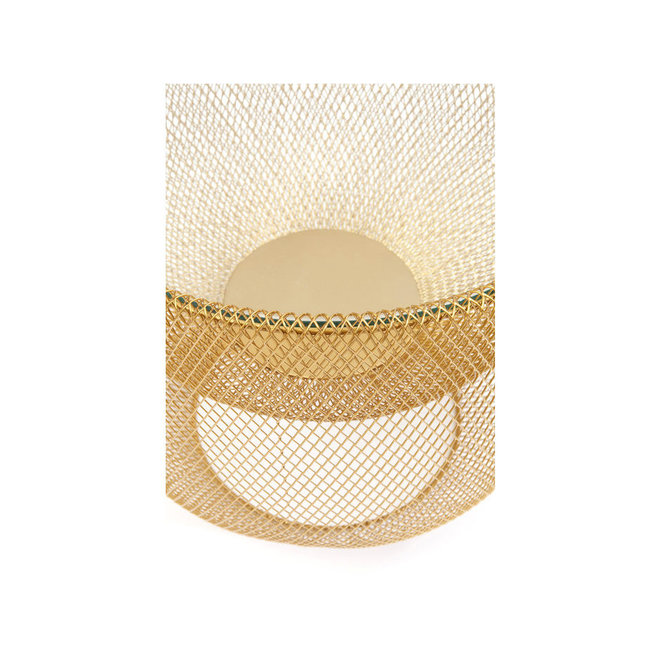 Coffee Table Grid Gold