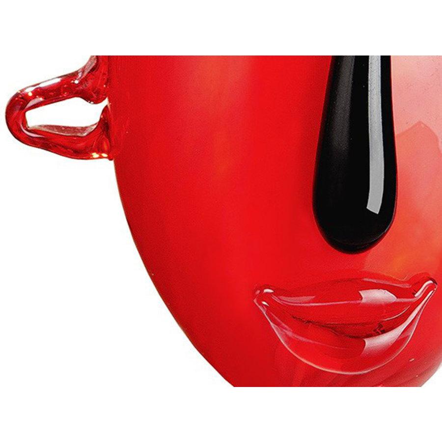 Gilde Gezichtsvaas 'Red Vista'