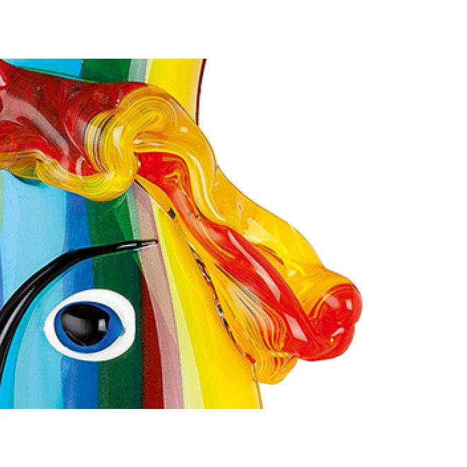 Gezichtsvaas 'Rainbow'