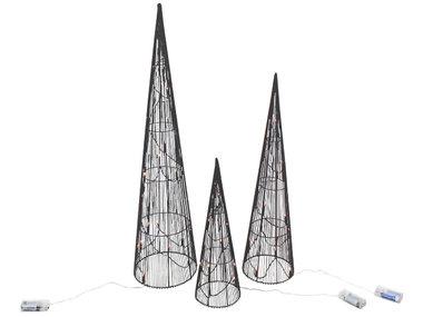 Werner Voß Conische LED Kerstbomen set, zwart