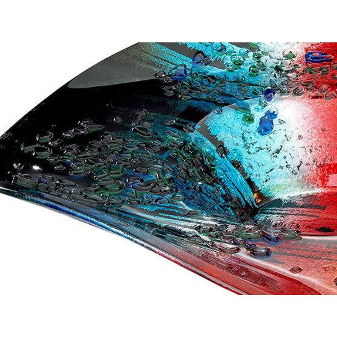 Glas Schaal Rainbow Dots, rond