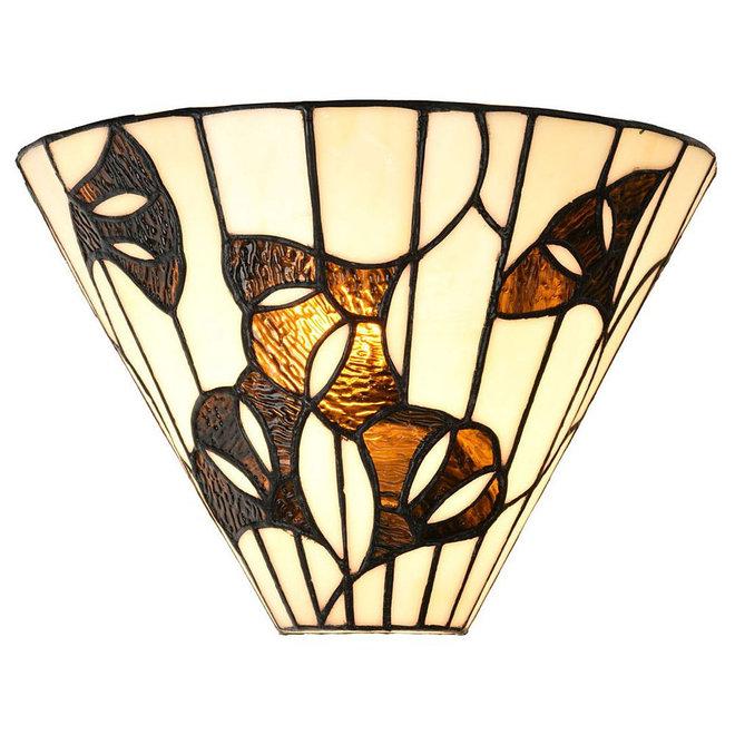 Tiffany Wandlamp Geometric, Ginkgo Leaf