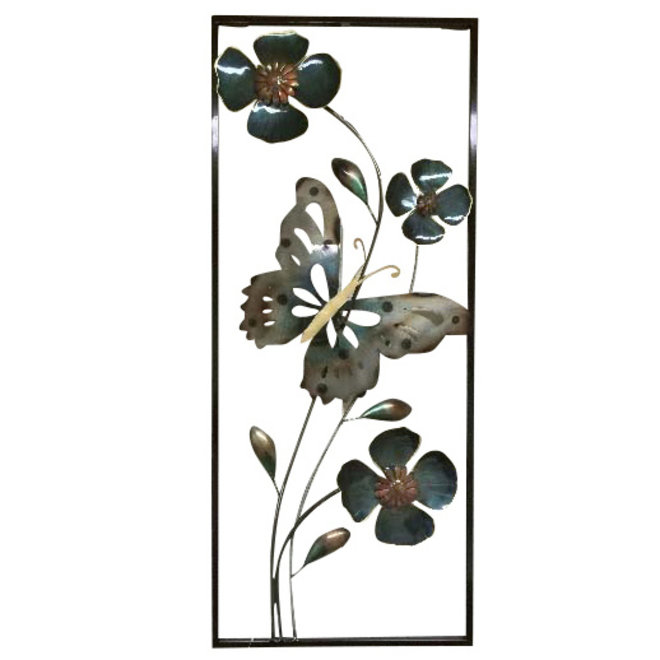 Wall Art Butterfly and Flowers 80x33